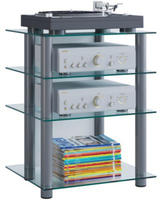 Bücherregal Glas Vcm Hifi Möbel Rack Phono Turm Medienrack Medienmöbel Regal Tisch