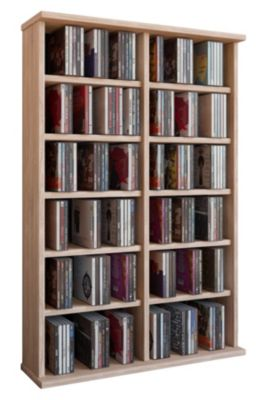 Regal Eiche Rustikal Vcm Regal Dvd Cd Rack Medienregal Medienschrank Aufbewahrung