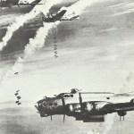 B-17 beim Großangriff auf Berlin am 26. 2.1945