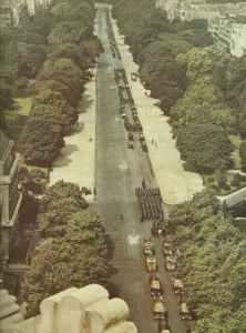 Blick auf die Avenue Foch während des deutschen Einmarsch