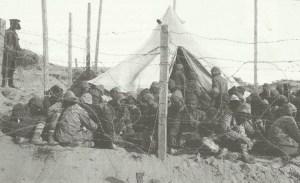 Gruppe türkischer Gefangener