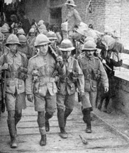 Britische Soldaten in Saloniki