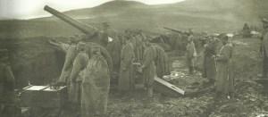 Schwere serbische Artillerie