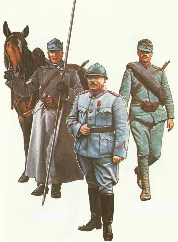 Rumänische Soldaten 1916-1918
