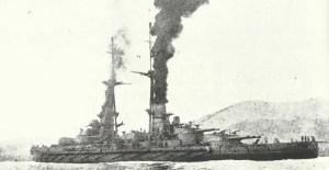 italienische Schlachtschiff 'Leonardo da Vinci'