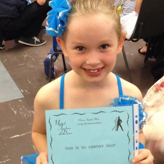 October - doing well at dancing!