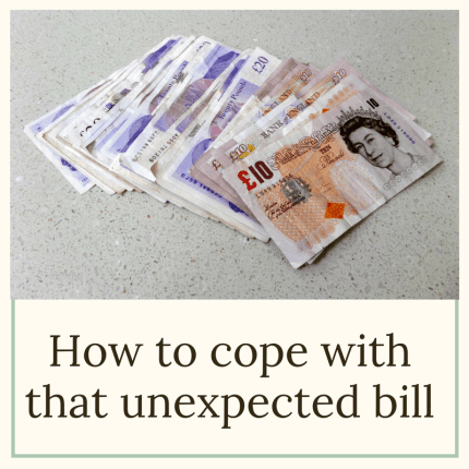 unexpected bill