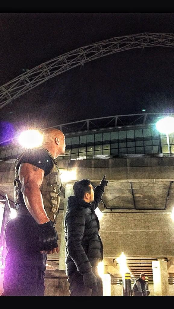 Fast and Furious 6 films stunt at Wembley Stadium