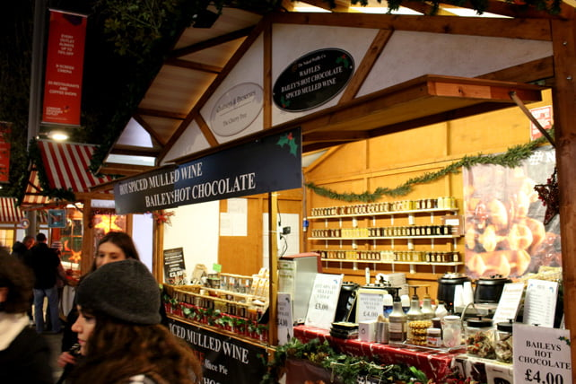Wembley Christmas market Baileys Hot Chocolate