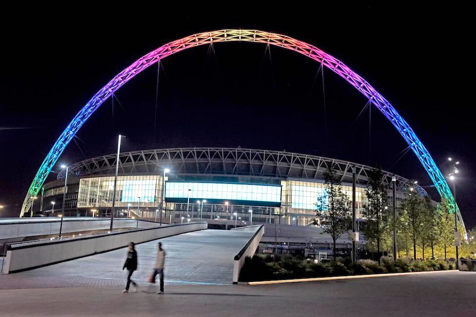 Wembley lights up London with pride