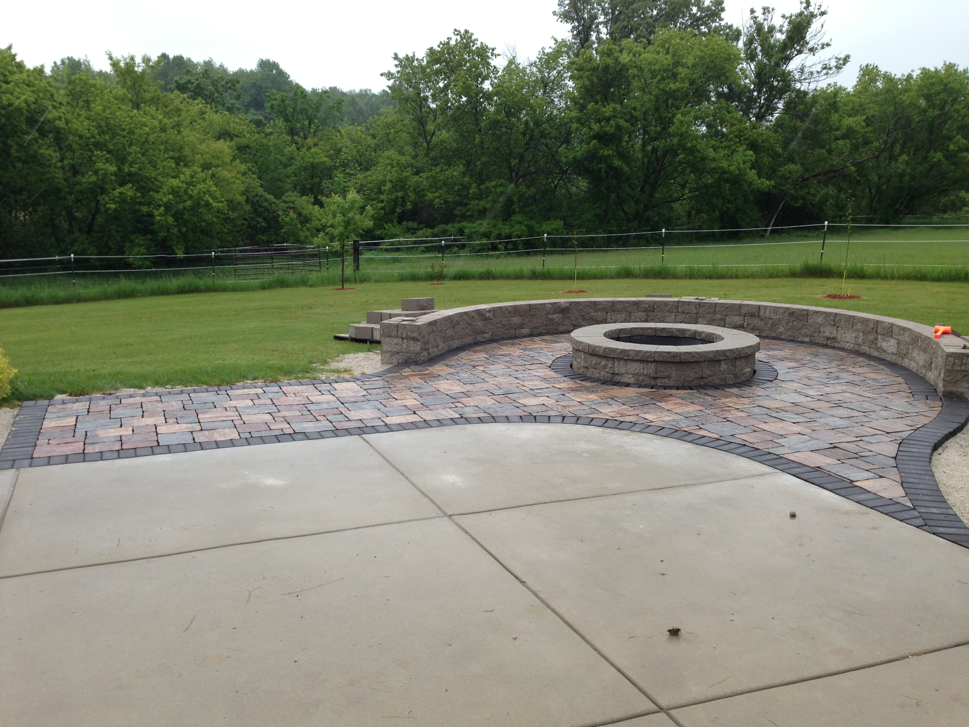 Finished Fire Pit with Sitting Area
