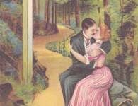 cartoon-whimsy-chicago-agrees-with-me-couple-kissing-a-path-1910s