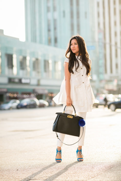 Silvester Outfit Frauen All White :: Ivory Tunic & White Denim - Wendy's