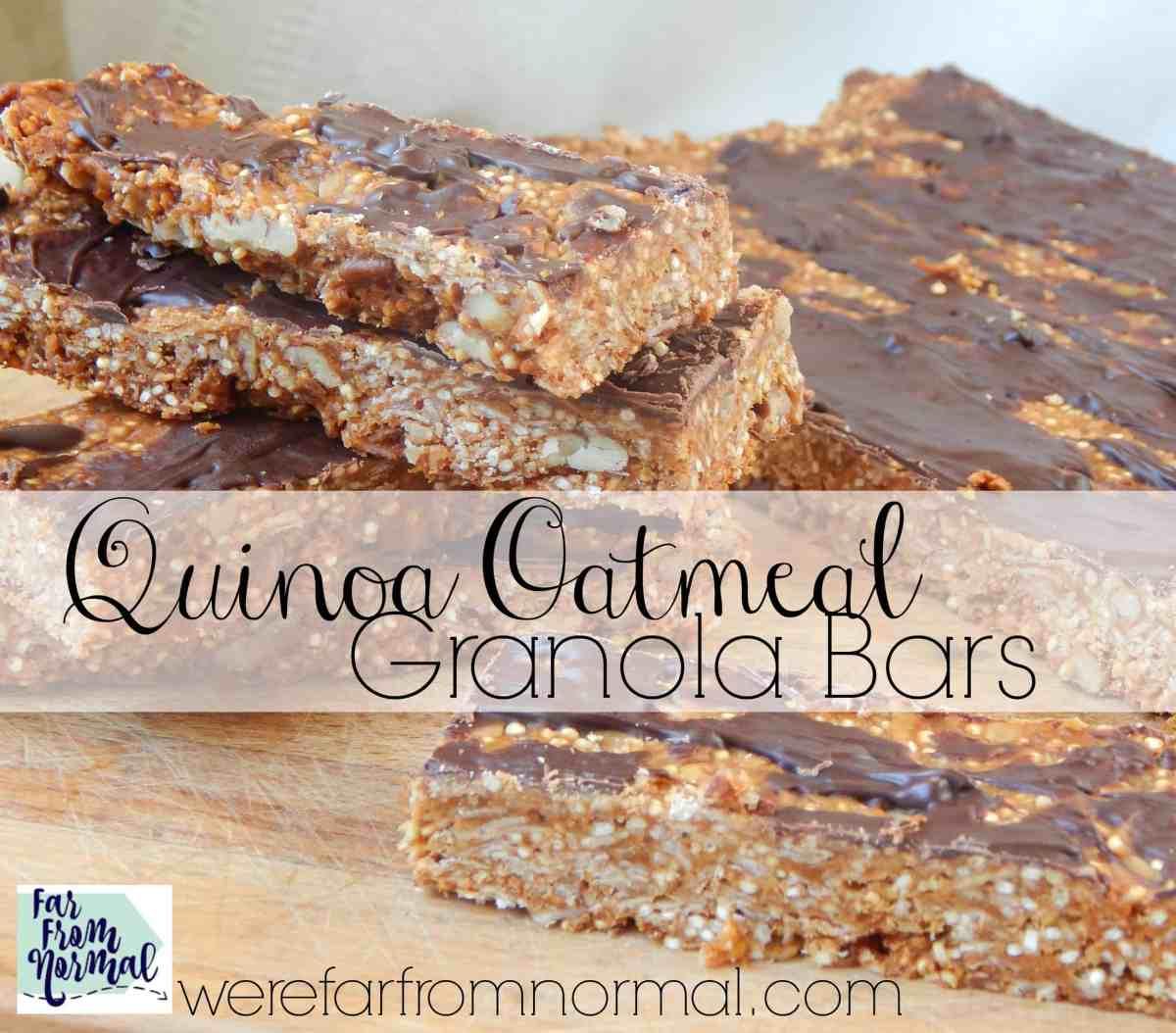 Quinoa Oatmeal Granola Bars