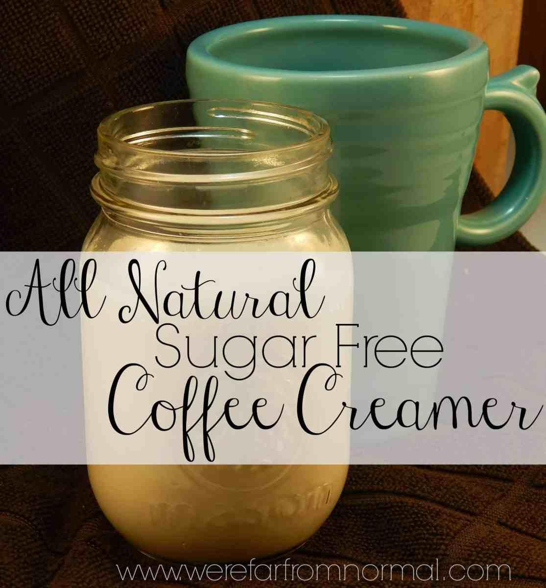 All Natural Sugar Free Vanilla Coffee Creamer