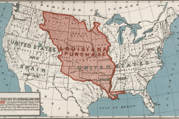 Map of the Louisiana Purchase Territory