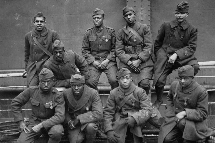 ome of the colored men of the 369th who won the Croix de Guerre for gallantry in action