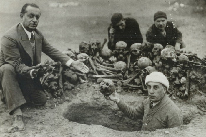 Remains of Armenian victims
