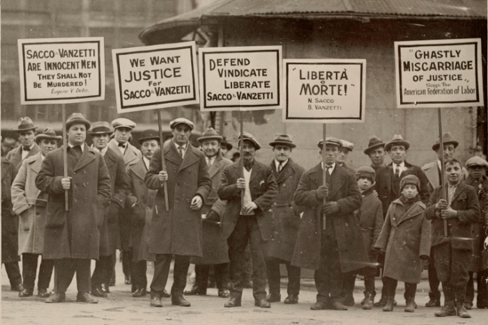 Sacco and Vanzetti demonstration, March 1925