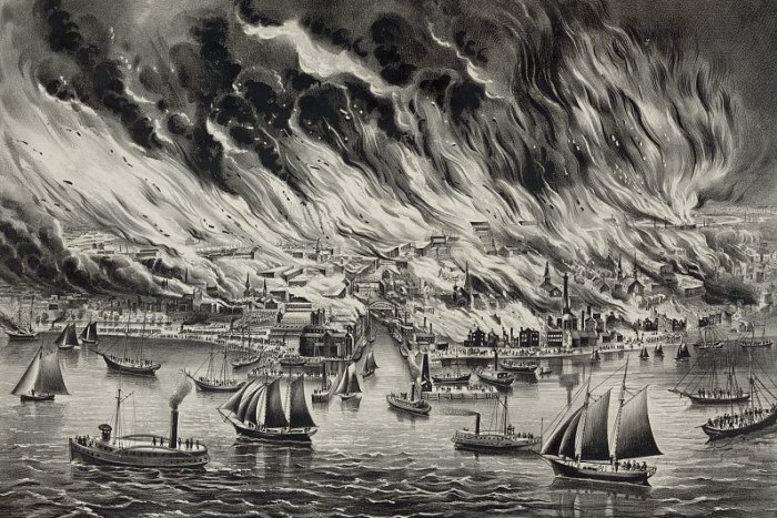 The great fire at Chicago, Oct 8th 1871