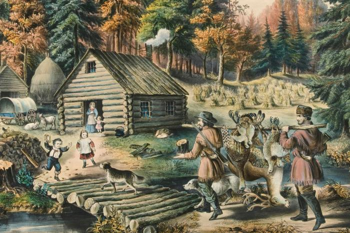 The Pioneer's Home on the Western Frontier