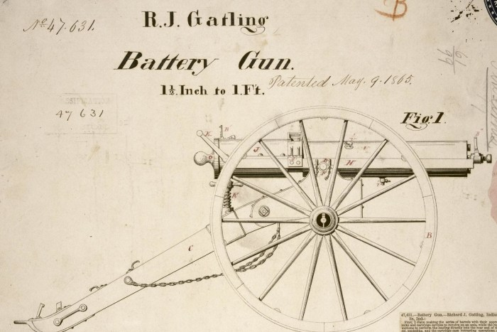 """Battery Gun"" by Richard Jordan Gatling, 1865"