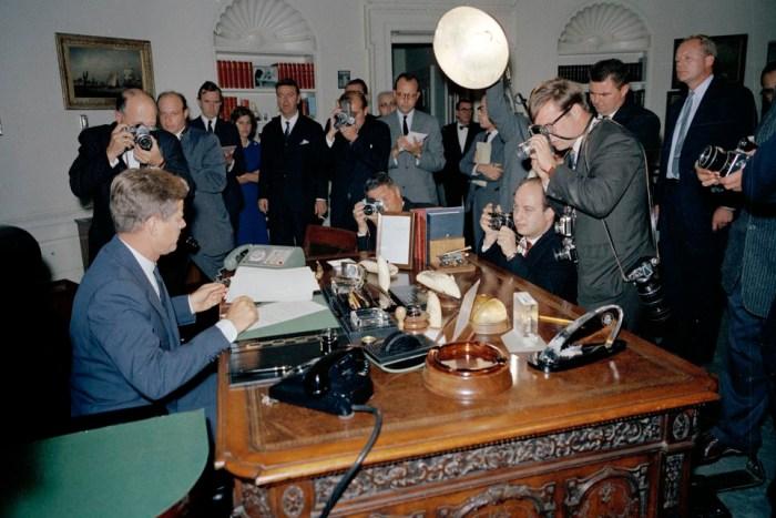 President John F. Kennedy Signs Cuba Quarantine Order