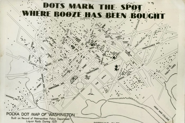 "Alleged ""speakeasy map"" of the National Capital, 1932"