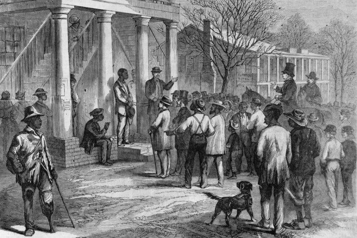 Selling a freedman to pay his fine, at Monticello, Florida