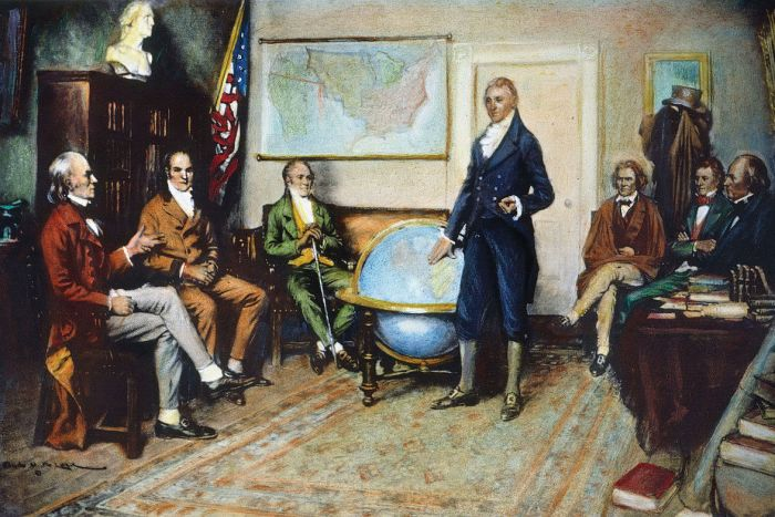 James Monroe with His Cabinet