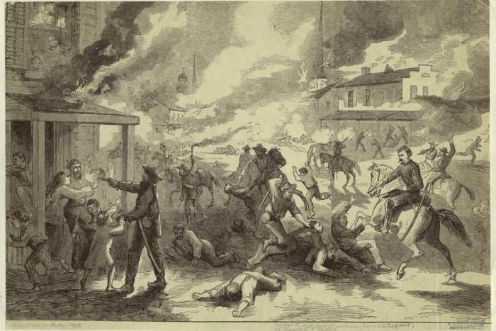 Sack of Lawrence, Kansas, by Quantrill's Raiders