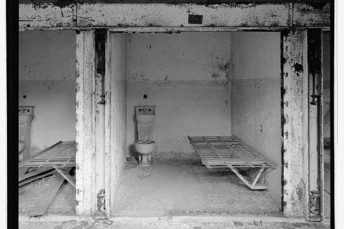 Interior View of Death Row Cell Block