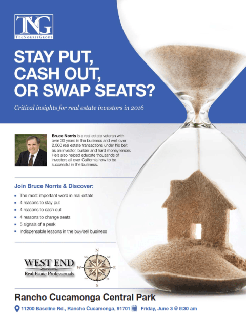 Stay Put, Cash Out, or Swap Seats