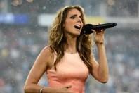 Janine Stange National Anthem Girl