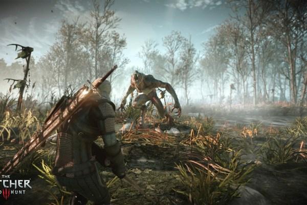 The Witcher 3 Geralt vs Werewolf