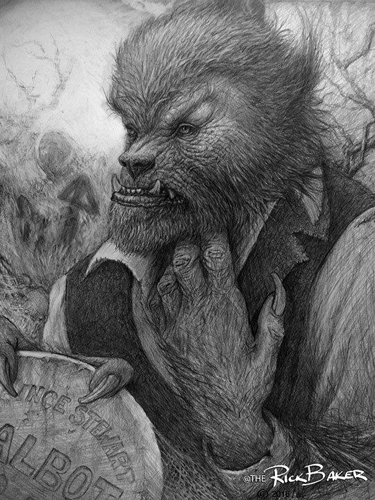 rick-baker-werewolf-drawing