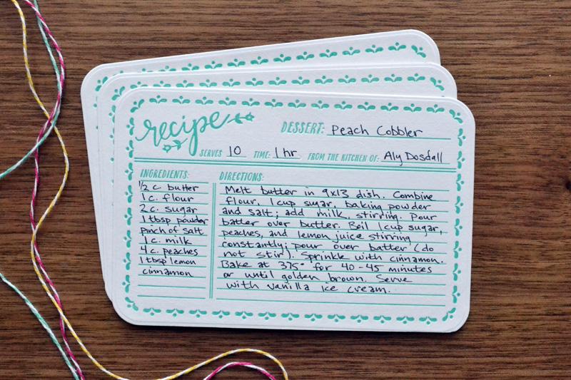Letterpress Recipe Card Gift Set We R Memory Keepers Blog - recipe card