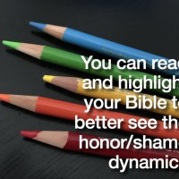 You can read and highlight your Bible to better see the honor/shame dynamics