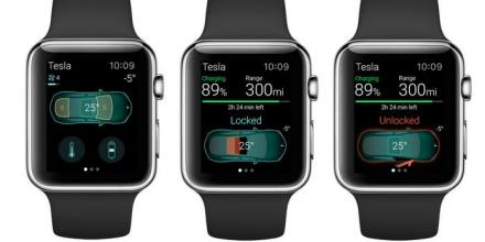 Apple Watch and Tesla Model S
