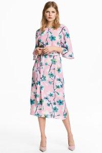 H & M k / Floral Printed Light Pink Dress - We Select Dresses