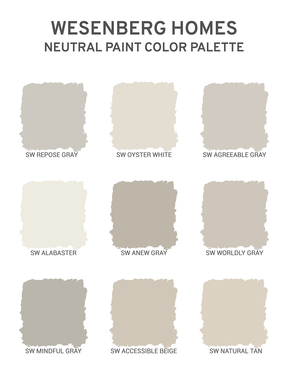 Creating The Perfect Palette For Your Interior Paint Wesenberg Homes