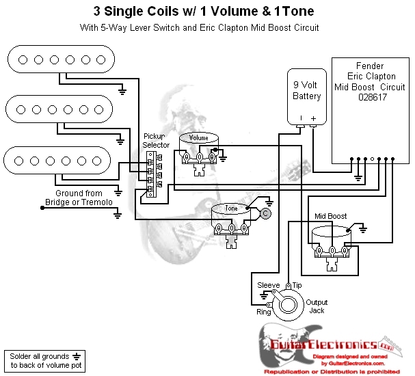 fender mid boost wiring diagram