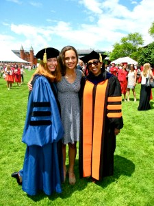 from left: Professor Mahurin, Elsa Hardy '14, Professor Leah Wright. Photo courtesy of Melody Oliphant '13