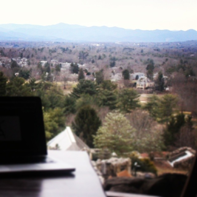 The Grove Park Inn, overlooking the Blue Ridge Mountains