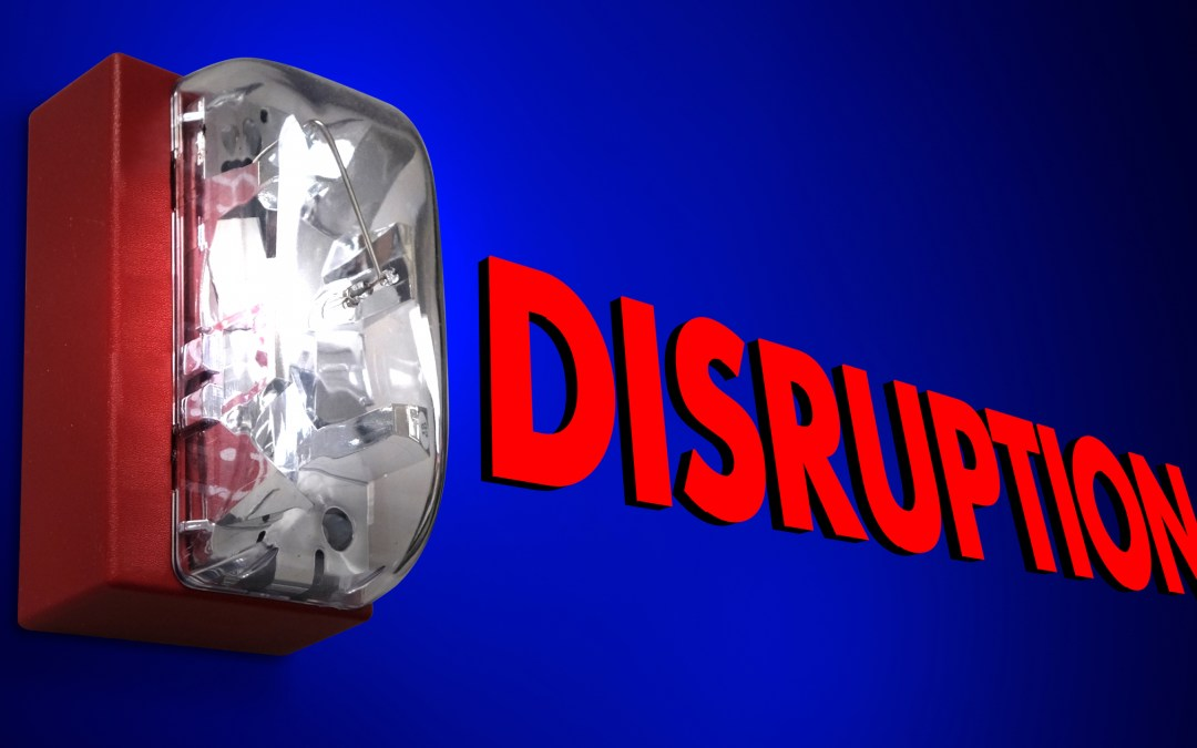 A Lesson Learned During a Taxi Ride: Disruption is here!