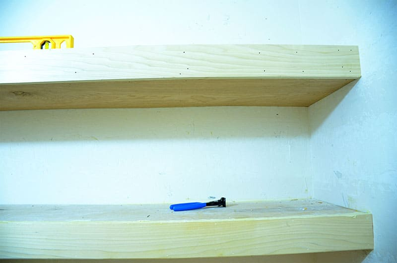 front board for chunky shelves