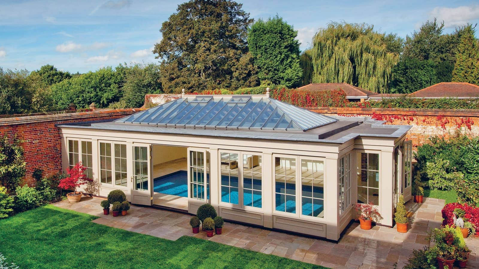 Glaspool Timber Glass Pool House Westbury Garden Rooms