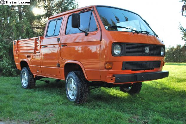 spotted vw syncro doka for sale west county explorers club. Black Bedroom Furniture Sets. Home Design Ideas