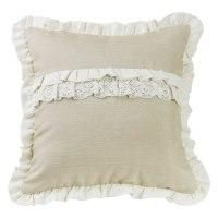 Pungo Ridge - Ruffle Accent Pillow - Tan, Charlotte, FB4900P6