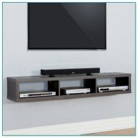 Floating Shelves Under Wall Mounted Tv